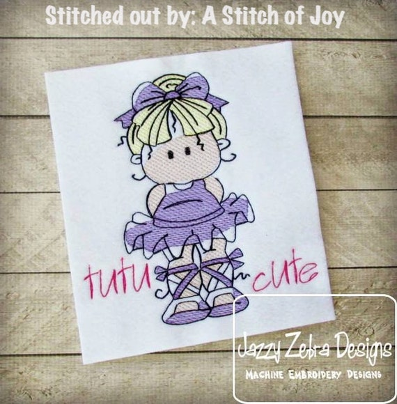 Ballerina embroidery design - Ballerina 2 Sketch Embroidery Design - ballerina Sketch Embroidery Design - ballet Sketch Embroidery Design