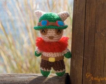 Teemo Amigurumi - Teemo doll - Teemo plush - League of legends amigurumi - Teemo crochet - Teemo league of legends - Teemo lol - Teemo gift