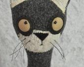 Millie Cat the adorable doorstop, cat doorstop, fabric doorstop, fabric weighted ornament,room decoration, housewarming gift