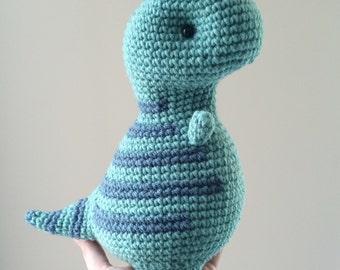 Baby T-Rex, crochet dinosaur, amigurumi