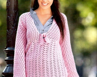 Crochet Granny Square Tunic Pattern : Asymmetric crochet tunic PATTERN autumn-spring by ...