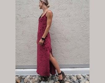 Red Velvet Spaghetti Strap 90's Dress