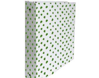 3 Ring Binder: Kelly Dot in Green