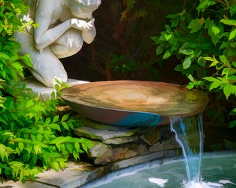 Fuller Gardens Fountain - New Hampshire - Fine art photograph - Limited Edition