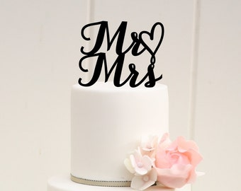 Mr and Mrs Wedding Cake Topper - Custom Cake Topper