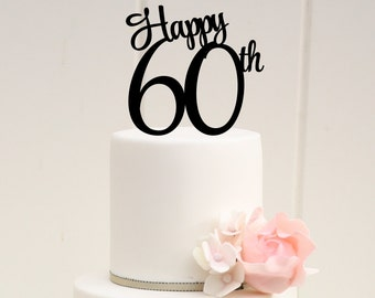 Happy 60th topper | Etsy