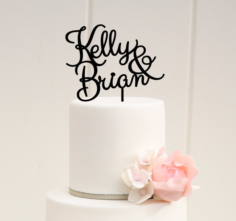 Wedding Cake Topper Custom Cake Topper First Name Cake