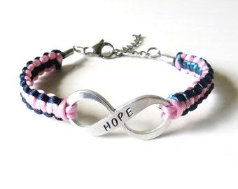 Thyroid Cancer/Disease HOPE Awareness Ribbon Charm Bracelet