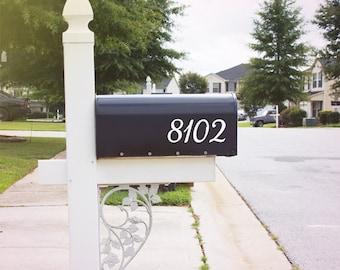 Mailbox Number Decal, Custom Mailbox Sticker - 001