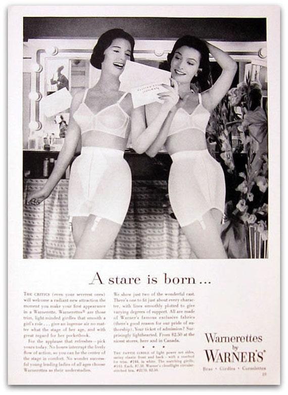 1956 Warnerettes By Warner Magazine Ad Bra Advertisement