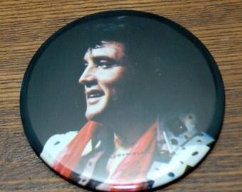 Elvis Presley Pin With Signature Vintage