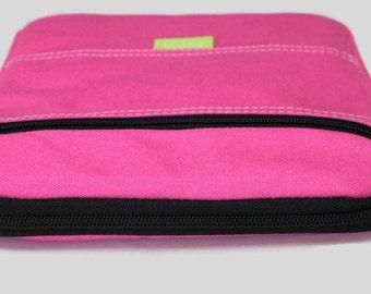iPad Case, iPad Sleeve, iPad Air Sleeve Case, Water Resistant - Pink Canvas