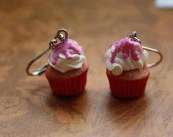 Cute Pink Cupcake Earrings