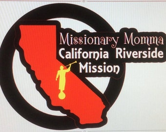 Mission Car Vinyl Decal  Missionary *Free Shipping