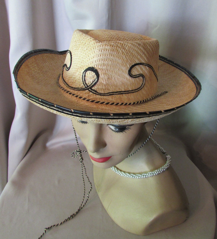 SALE Hat Cowboy Hat Cowgirl Hat Straw Hat Unisex Adult Hat