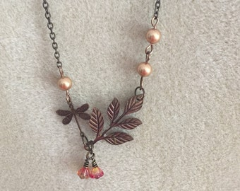 Nature statement necklace
