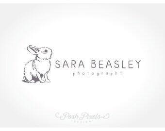Logo Design (Premade) Bunny Logo, Animal Logo, Photography logo, Cute Logo, Rabbit logo, Boutique Logo, Hand Drawn Logo