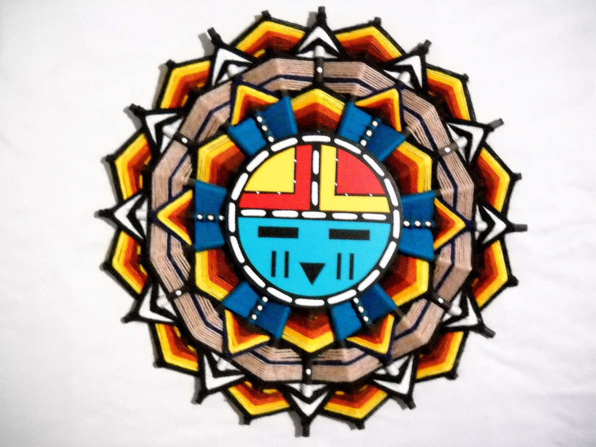 Beautiful Handmade Hopi Dawa Sun Face Wall Art Sandra Hamana