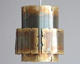 HOLM SØRENSEN BRUTALIST Pendant Light Danish Design Denmark Ceiling Mid Century Modern Sven Aage Holm Sorensen Lamp