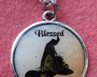 Blessed Be Witch Hat Pendant