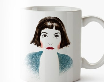 Mug Audrey Tautou - Amelie - Movie Cine Mug Taza - cine - movie - french - regalo cine - movie cool gift