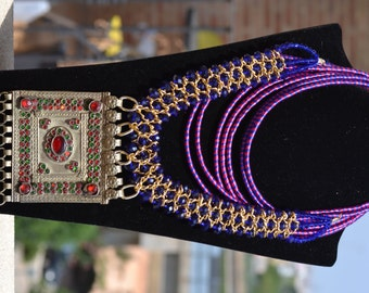 Sale........ 30% off............ KUCHI NECKLACE, Kuchi COLLAR, Afghan necklace, Collar étnico, Ethnic Necklace