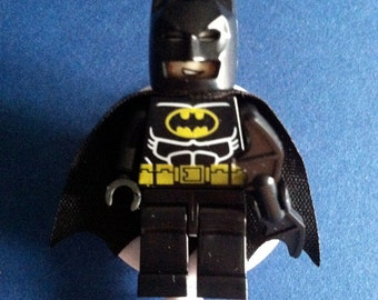 Batman™ ~ ID Holder Customized with Brick® Minifigure ~ Badge Reel ~ Belt Clip ~ Alligator Clip~ Great Gifts Nurses Doctors Teachers