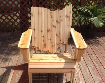 Ohio Adirondack Chair Handmade Wood Furniture Rustic Cedar patio Ohio Chair Adirondack Chair unfinished - LOCAL PICKUP ONLY