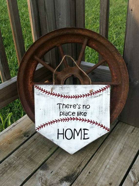 Baseball Sign Theres No Place Like Home Home Plate