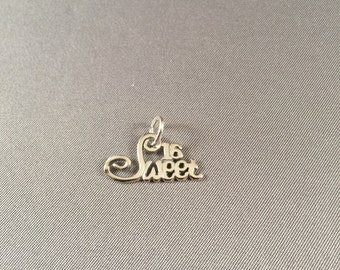 Sweet Sixteen .925 Sterling Silver Charm