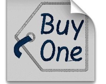 "Twin Onsie Machine Embroidery Appliqué  ""Buy One"" ""Get One Free"" Tags Instant download"