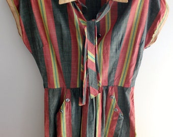 Vintage Multi-Colored Dress