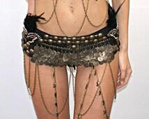 Women's Tribal native american style Feather Belt Wrap, Rave,Burning Man,Edc,Festival,Coachella,Tribal Belt, Native American Style Belt