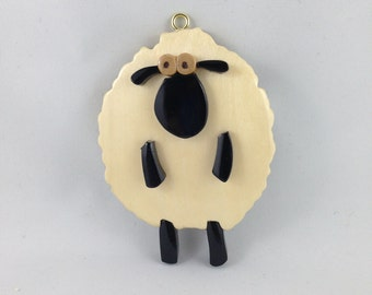 Wooden Whimsical Sheep