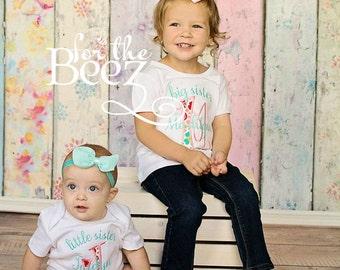 Big Sister Little Sister Set, Sister Sibling Set, Sisters Shirts, Sibling Shirts, Big Sister Little Sister Outfits, Big Sis Lil Sis