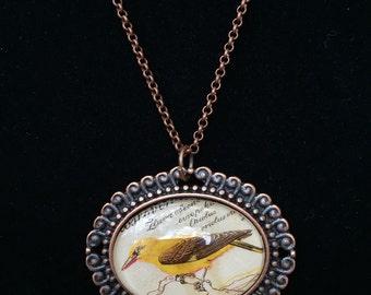 Bird Postage Stamp Necklace