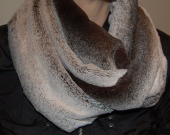 Soft and Luxurious Furry Infinity Scarf, Plush Minky Scarf, Scarf Set, Stylish Gift for her, Ladies Accessory