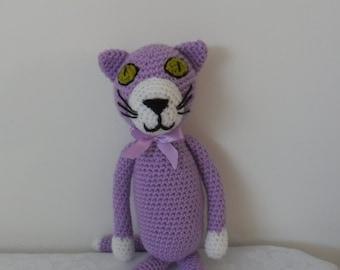 Meet Mr. Jasper the purple city cat by Liz