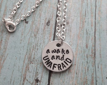 My Chemical Romance Lyrics Hand Stamped Necklace