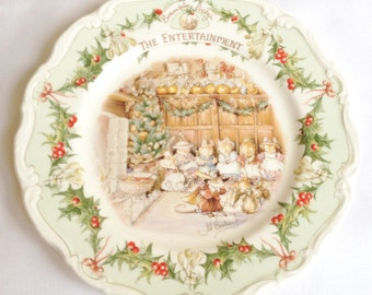 The Entertainment plate - Brambly Hedge - Royal Doulton - 8 inch plate - Midwinter plates series - 1986