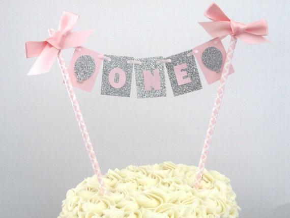 First Birthday Cake Topper Smash Cake Topper Girl First Birthday