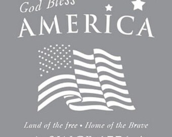 "12"" x 12"", Americana Decor-Stencil-American Tribute, Reusable Stencil"