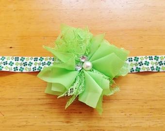 St. Patrick's Day Headband - Green Headband - Shamrock Headband