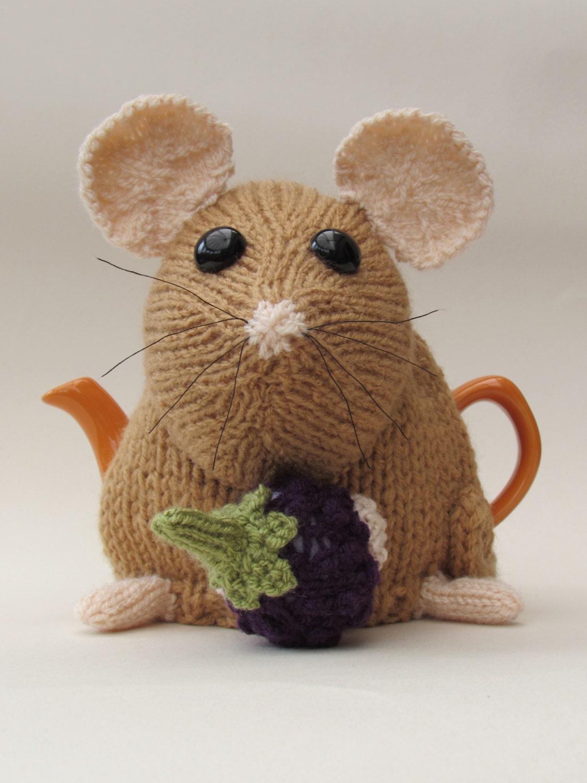 Small Tea Cosy Knitting Pattern : Small Sized Dormouse Tea Cosy Knitting Pattern