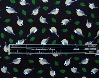 Mini Chickadees Fabric, Timeless Treasures Gail C2525, Bird Fabric, Chickadee Quilt Fabric, Fabric with Birds, Cotton