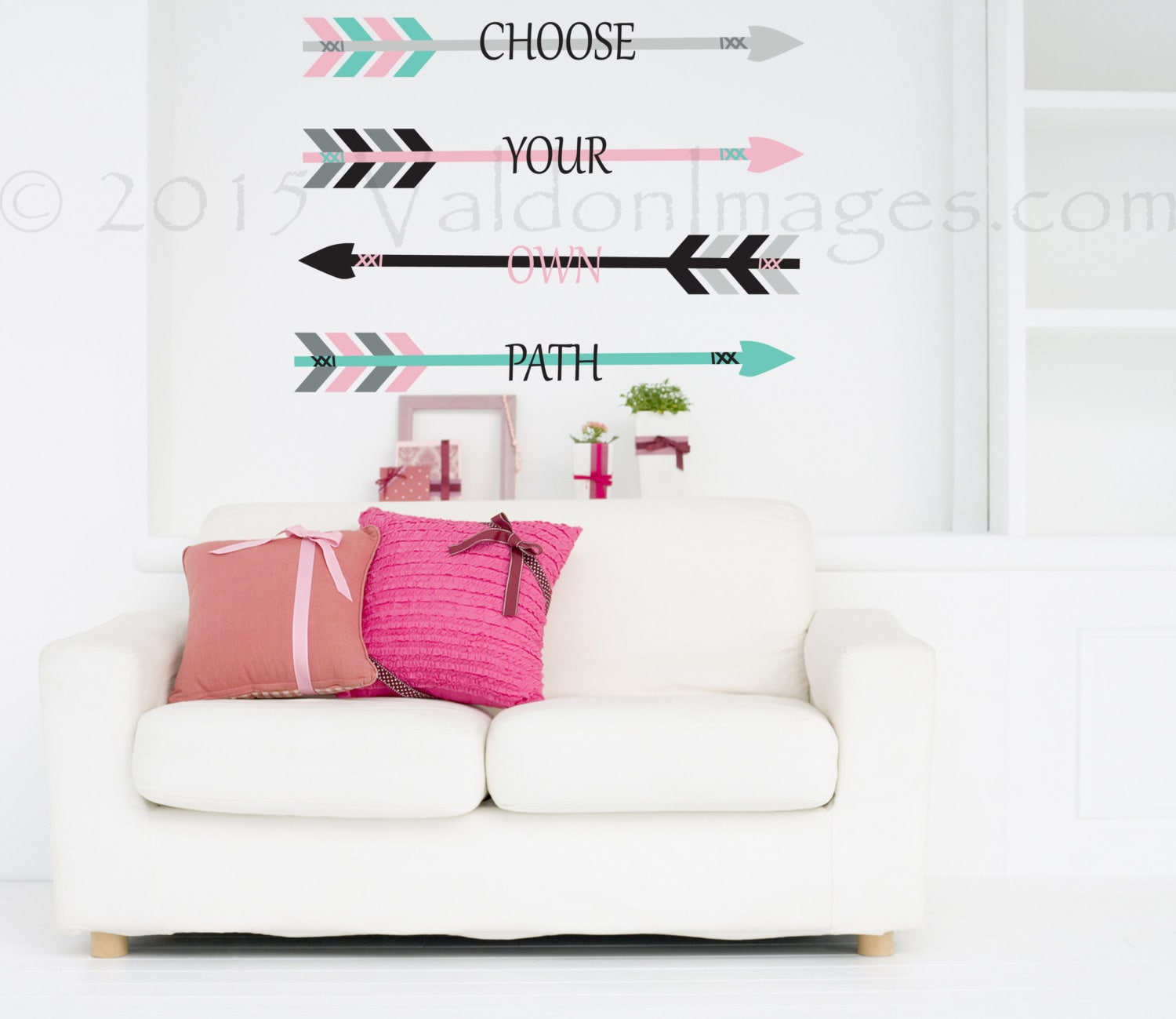 Choose your own path wall decal arrow wall decal by ...