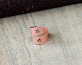 Copper Wrap Ring With Stamped Stars Size 9