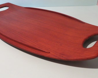 Dansk Staved Teak Surfboard Serving Tray Jens Quistgaard
