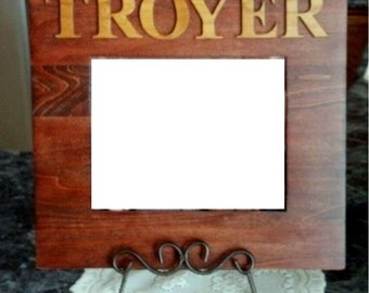 Personalized Last Name Custom Wooden Picture Frame