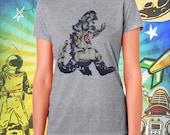 Godzilla Hedora Poster Gray Women's T-Shirt